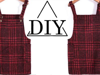 How to make a plaid overall dress DIY