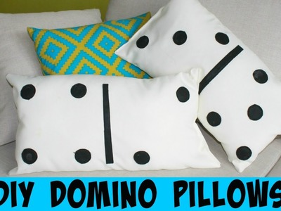 How To Make Domino Pillows | DIY Home Decor