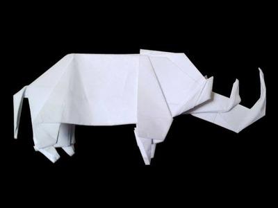 How to make: Origami Rhino