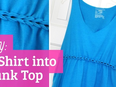 How to Make T-Shirt into Tank Top