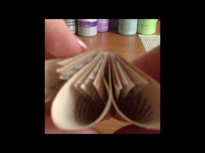 How To Make vintage shabby Paper Flowers DIY