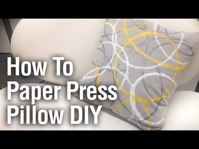 How To Paper Press Pillow DIY