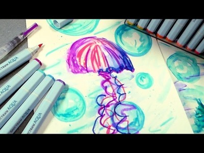 Jellyfish Sketching Tutorial & Marker Giveaway!!!