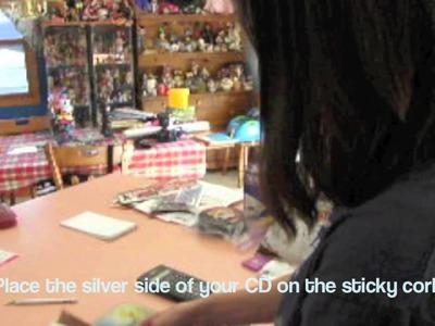 Kewpie's Craft Corner- Creating Coasters from Old CDs.DVD's
