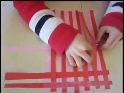 Kids Basket Weaving Paper Craft