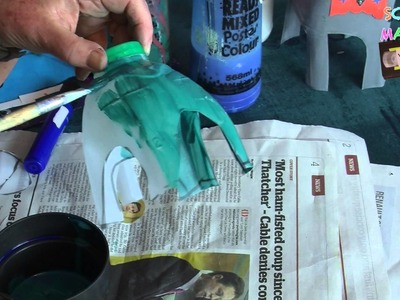 Kids DIY crafts - How to make a milk bottle elephant!