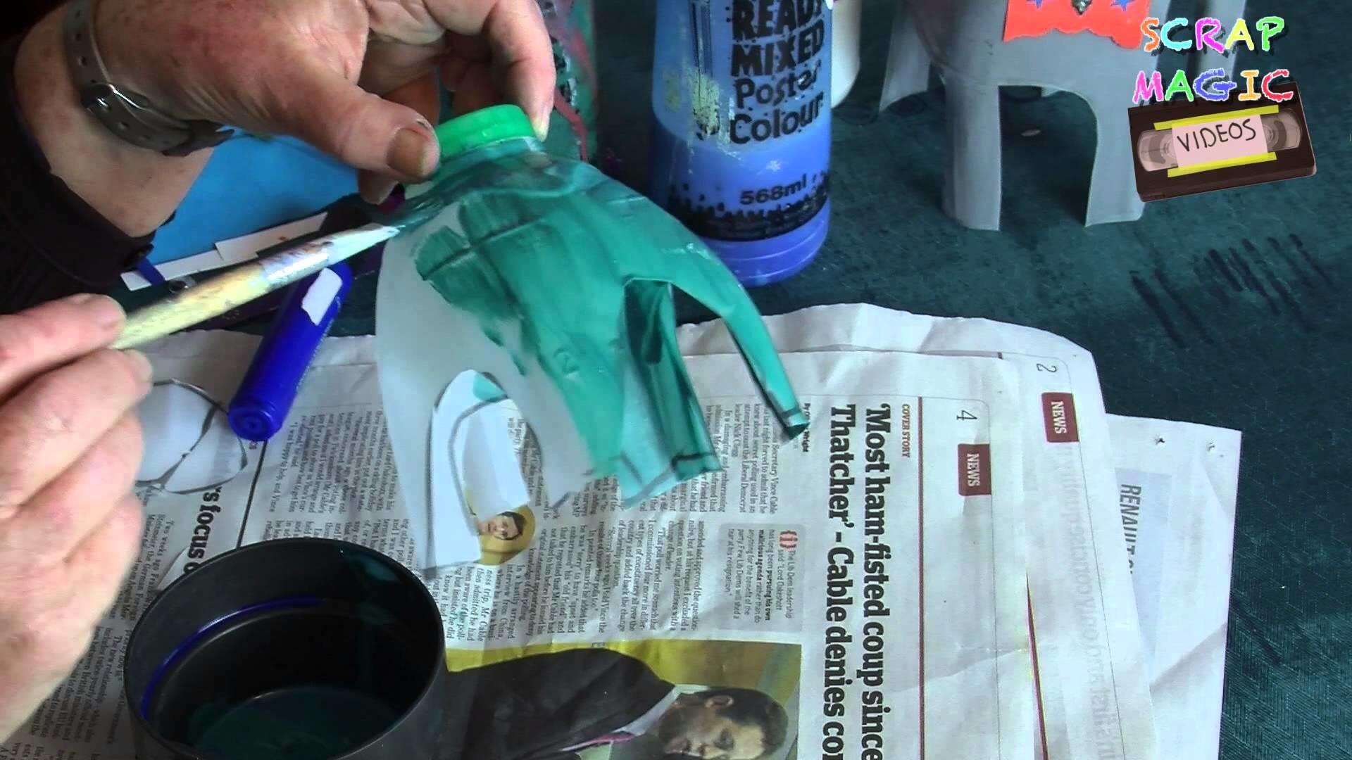 Kids DIY crafts - How to make a milk bottle elephant!