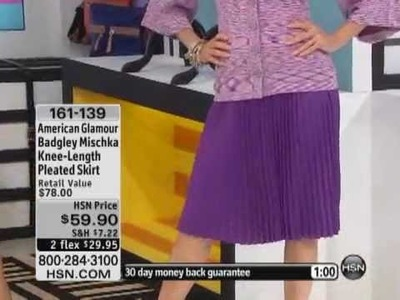 Knee-Length Pleated Skirt from American Glamour Badgley Mischka