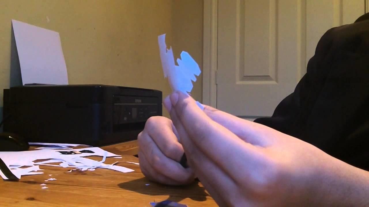 Mini papercraft batman timelapse