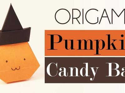 Origami Pumpkin Bag for Halloween