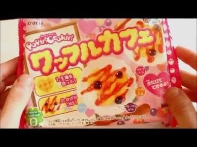 Popin Cookin Waffle Kit - Japanese DIY candy - Tutorial, making it