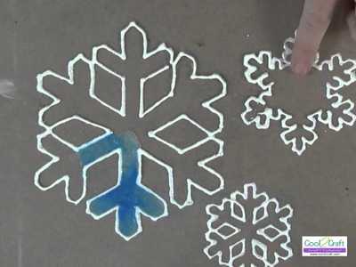 Quick and Easy Snowflake Window Clings Using Aleene's Original Tacky Glue