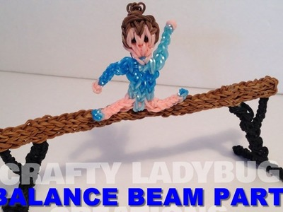 Rainbow Loom Bands BALANCE BEAM PART 2 How to Make by Crafty Ladybug