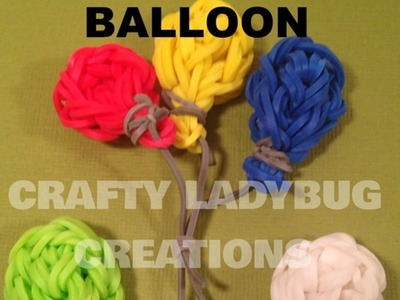 Rainbow Loom Bands CUTE.Easy BALLOON CHARM How to Make Tutorial by Crafty Ladybug