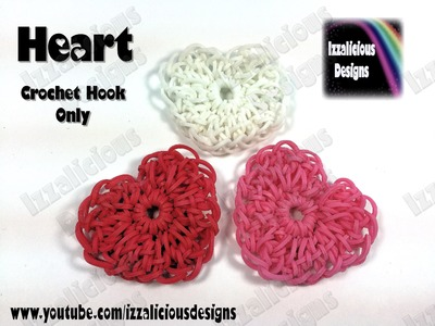 Rainbow Loom Heart Charm (Valentine) Crochet Hook Only - Loom-less (Loomless)