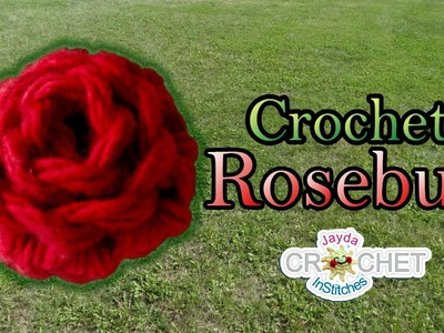 Rosebud Crochet Tutorial - Quick and Easy DIY!