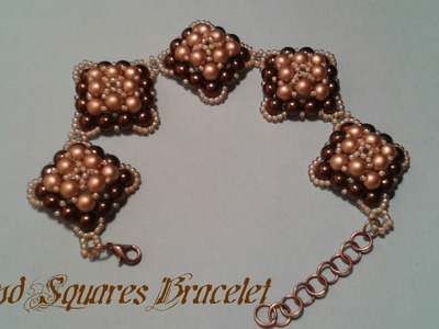 Round Squares Bracelet Beading Tutorial by HoneyBeads1