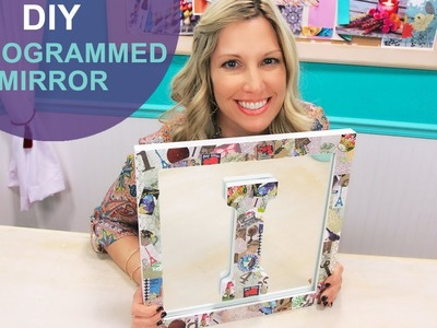 Scrapbook Inspired Decoupage Mirror: The DIY Challenge on The Mom's View