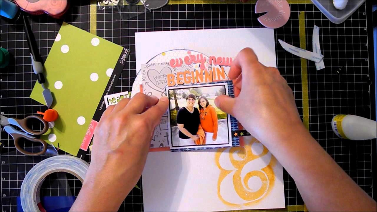 Scrapbook Process Video #5: Every new beginning