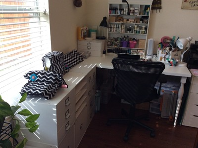 Scrapbook Space Tour - My Temporary Scrappy Space!