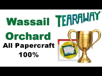 Tearaway PS VITA - 1080P - Wassail Orchard - ALL Papercraft Locations!
