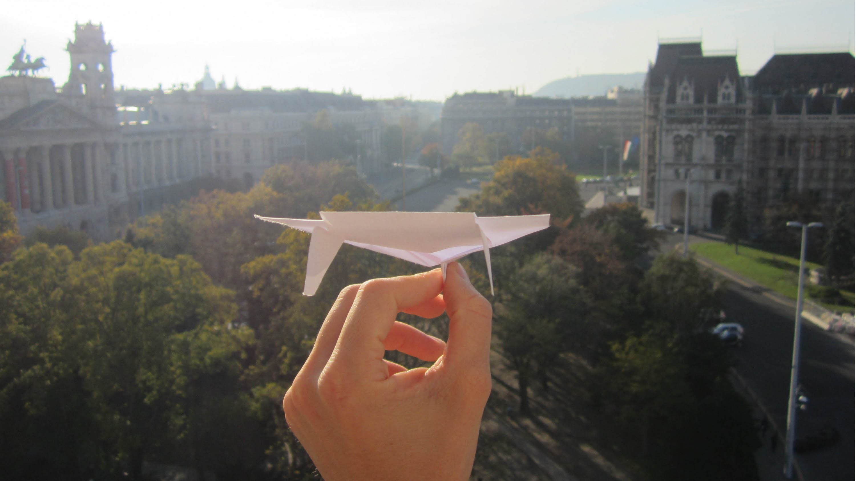 The Ultimate Paper Airplane Glider In Action (+ tutorial) - My Best Ever Paper Plane