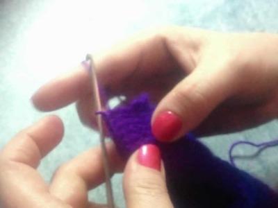 Turning a heel in crochet