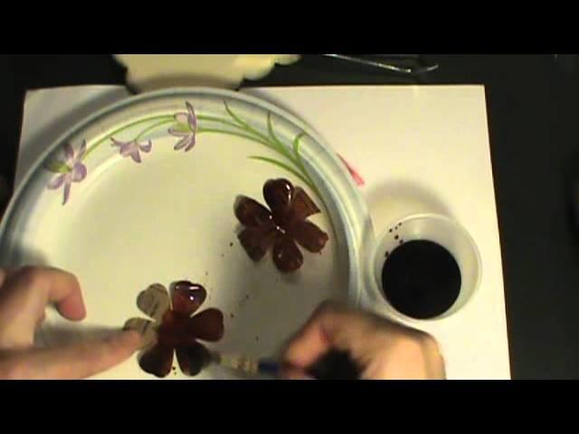Vintage paper bag flower tutorial with shimmery mica powder Embellish your scrapbook albums!