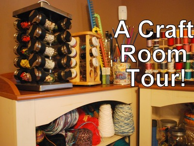 Vlog #252 A tour of my ORGANIZED craft room.