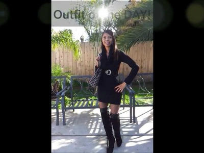 Winter dress Outfit of the Day or Night- OOTD.N)