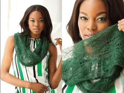 #16 Leaf Lace Cowl, Vogue Knitting Early Fall 2013