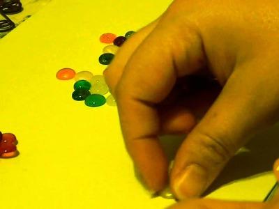 3D melted bead flower tutorial