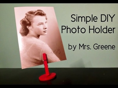 Craft Lightning: Make a Simple DIY Photo Holder (in 15 minutes or less!)