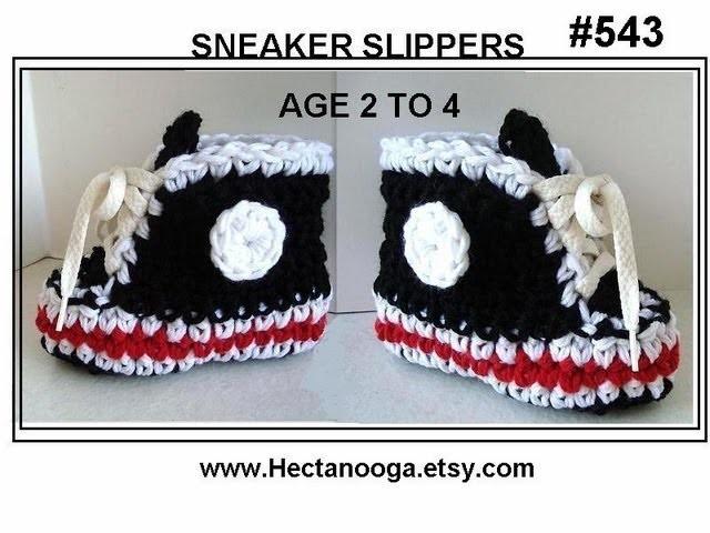 CROCHET BLACK SNEAKER SLIPPERS, age 2 to 4, PART 1, boys booties slippers, free pattern