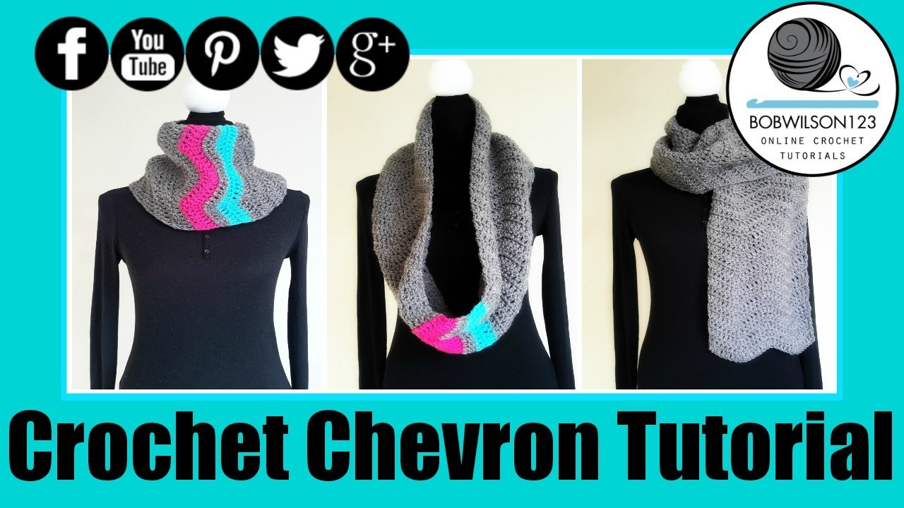 Crochet Chevron Delight Cowl. Scarf. Blanket Tutorial