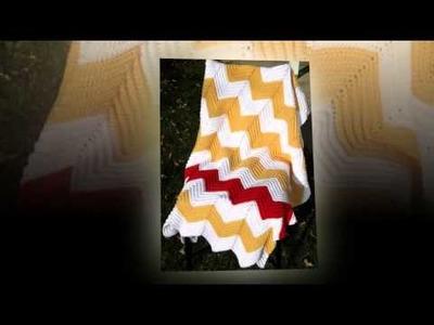 Crochet edging pattern for ripple afghan