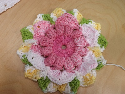 Crochet Flower For A Granny Square Baby Blanket Part 1