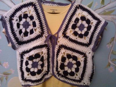 Crochet Flower Power - Vest.Bolero
