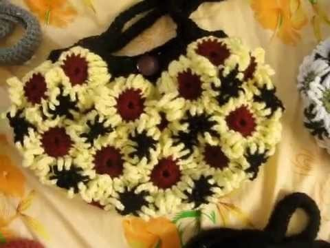 Crochet Flower purses 2