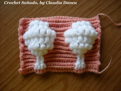 "Crochet Jacquard: ""TREE STITCH"". ""PUNTO ÁRBOL"""