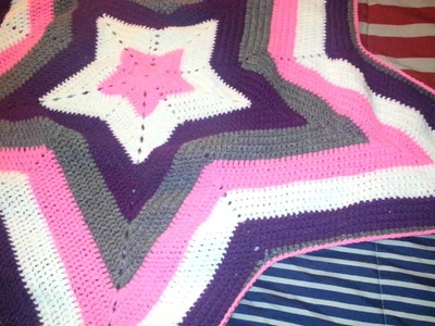 Crochet Star Baby Blanket Red Heart Super Saver Ya