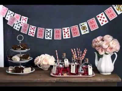 Cute diy alice in wonderland decorations ideas