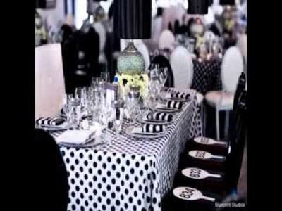 DIY Black and white party decorations decor