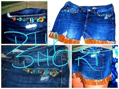 DIY Clothes, Denim Shorts Makeover From JEANS, EASY