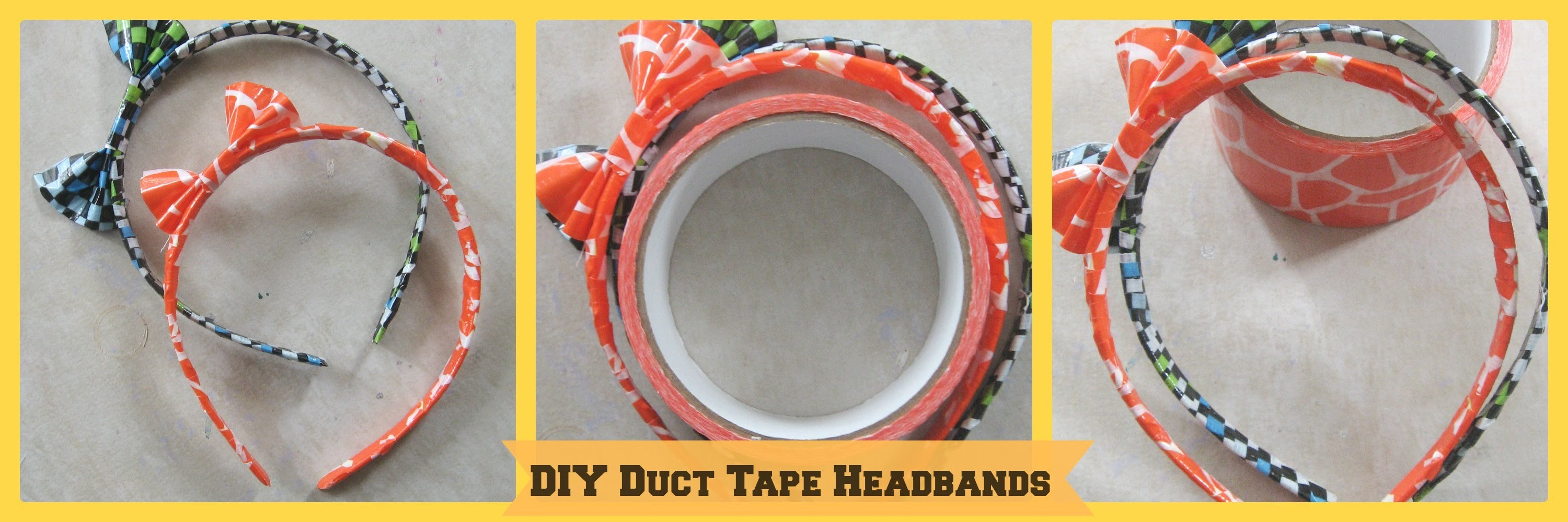 DIY Duct Tape Headbands.DIY Duct Tape Crafts.How to Make a Duct Tape Headband- Tutorial