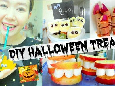 DIY HALLOWEEN TREATS! Super easy party food ideas!!