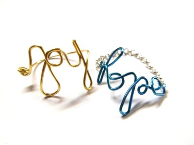 "DIY ""Hope"" & ""Joy"" Word Wire Rings 