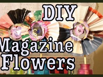 DIY: Magazine Flowers! Room Decor | #Roomspiration