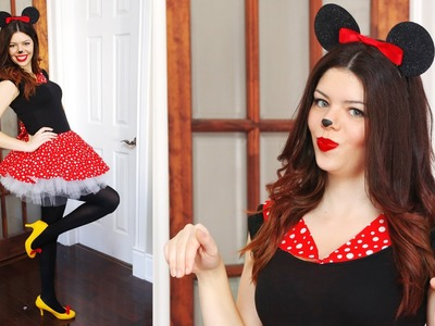 DIY MINNIE MOUSE HALLOWEEN COSTUME - NO SEW