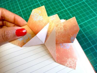 DIY Origami Butterfly Corner Bookmark